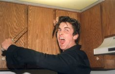Christian Bale in his kitchen | Rare and beautiful celebrity photos