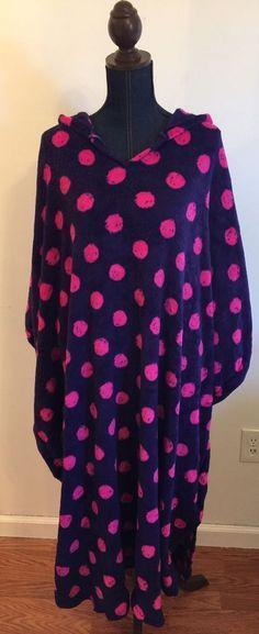 Jenni By Jennifer Moore Women's One Size Fleece Hooded Poncho Soft & Warm Robe #JennibyJenniferMoore #Poncho