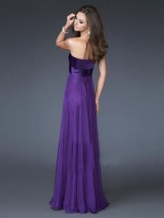 purple long prom dresses