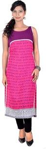 Vivaa Casual, Buy Vivaa Designer Georgette Partywear Long sleeveless pink Kurti,Tunic, Top VNK-31 | Online Shopping India - Shop Online for Mobile Accessories,Clothing & More at Shoppyzip.com