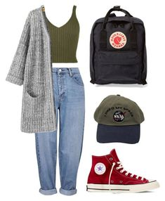 outfit goals A fashion look from October 2015 by lizblvck featuring Topshop, Converse and Fjllrven Diy Outfits, Hip Hop Outfits, Mode Outfits, Cute Casual Outfits, Retro Outfits, Grunge Outfits, Vintage Outfits, Simple Edgy Outfits, Jean Outfits