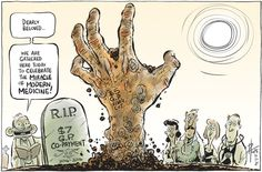 ABBOTT AND CO NEW GP TAX  WITH A NEW NAME. Cartoon by David Pope.