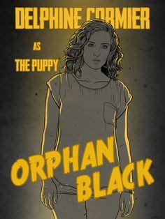 the godamn world won't change me — grendillo: Delphine Cormier as The Puppy ORPHAN. Orphan Black, Evelyne Brochu, Delphine Cormier, Black Tv Shows, Fanart, Back To Black, Pretty Little Liars, Black Print, Tv Series