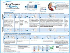 AeroChamber Plus Flow-Vu (aVHC) Large Mask/Mouthpiece Instructions (Visual) Childhood Asthma, Caregiver, Flow, Exercises