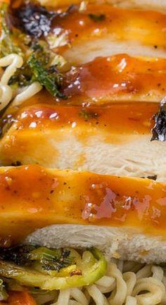 Roasted Orange Chicken Ramen Bowls