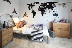 Try a wall transfer for a quick and easy decorating alternative. #hotlooks