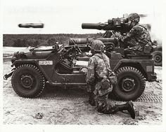 This is just cool! Soldiers firing a TOW Missile from an M151 Mutt vehicle (not a Jeep!)