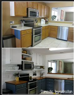 Kitchen Remodel On A Budget Before And After 19 budget-friendly kitchen makeover ideas | kitchens, house and