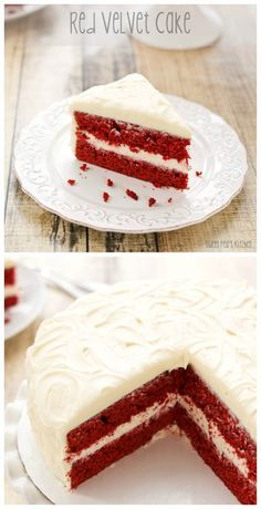 Red Velvet Cake with Cream Cheese Frosting. Made this the other day, it is AMAZING!