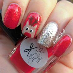 Rudolph #christmas #nails