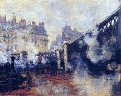 The Pont de l'Europe, Gare Saint-Lazare (1877), Claude Monet