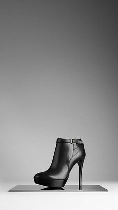 Burberry Strap Detail Ankle Boots