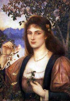 The Rose from Armida Garden (1894), Marie Spartali Stillman