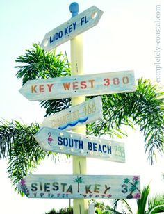Beach Destination Directional Arrow Signs. Make one or have it custom made for you! http://www.completely-coastal.com/2015/06/beach-destination-directional-arrow-sign.html