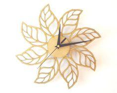 Radio II reloj de pared madera moderno elegante en por ardeola