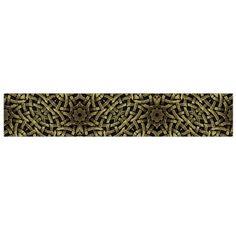 Celtic Golden Arabesque Print Flano Scarf (Large)
