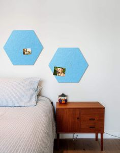 Hexagon Pinboard, Small in Sky Whiteboard, Wall Spaces, Diy Room Decor, Home Decor, House Rooms, All Design, Fiber, Decals, Strong