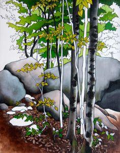 Gone Camping series Fine Art Giclee Print 'Stubb's by BlueTrike Art Thomas, Parks N Rec, Amazing Art, Giclee Print, Camping, Fine Art, Landscape, Trees, Painting