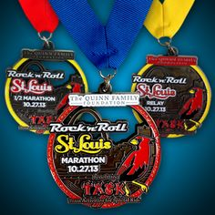 2013 Finisher Medals Revealed - Rock 'n' Roll Marathon Series.I'm going to get that in October. St Luis, Lanyard Designs, Virtual Run, Running Medals, Team Activities, I Love To Run, Special Kids, Rockn Roll, Marathon Training