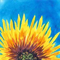 Day 15. 6 x 6 watercolor on Yupo. © 2015 Sheila Delgado