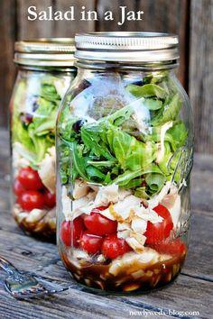 Salad in a Jar - Newlyweds
