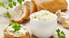 Herb Cheese Spread Recipe: This article features a healthy breakfast recipe - herb cheese spread. You can you enjoy this healthy cheese spread on your morning toast or bun. Food Network Recipes, Food Processor Recipes, Cooking Recipes, Queijo Cotage, Healthy Breakfast Recipes, Healthy Recipes, Sheep Cheese, Cream Cheese Topping, Czech Recipes