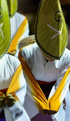 Bits of Matsuri - 15 by Bernard Languillier, via Flickr.  The Mitaka Awa Odori is one of the most important festivals in Tokyo, Japan.