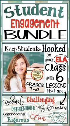 Student ♥️ Engagement Bundle: 6 Language Arts Lessons from My Store. Click on the preview to see a little more closely what is offered in this Student Engagement Bundle.