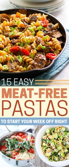Meatless Monday just got a whole lot tastier. Many of these look delicious and with no meat it's easier.
