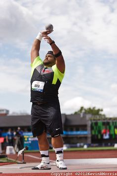 Olympic Track & Field Trials 2012: Reese Hoffa, Shot Put, Trials champion, Olympian. Photo © Kevin Morris Photography