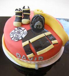 The Cake Baketress: Firefighter David's Birthday Cake!