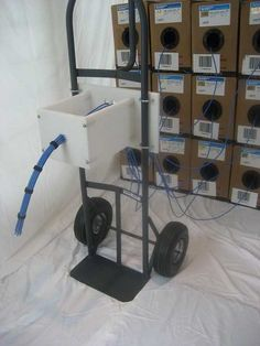 'Bundlizer' cable dressing/bundling tool mounts to hand cart, cable reel, work platform Structured Wiring, Structured Cabling, Hifi Video, Data Center Design, Network Rack, Hand Cart, Cable Reel, Wire Management, Cable Organizer