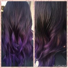 Favorite hair color yet!  #edgyhair #purplehair #purplebalayage #uniquehaircolors