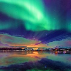 Northern Lights in Tromso, Norway.