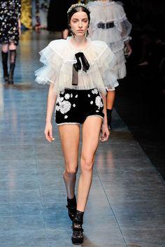 Dolce & Gabbana Fall 2012 Ready-to-Wear Fashion Show - Anna-Maria Nemetz