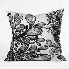 Black & white accent pillow
