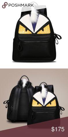 ❌LAST ONE❌Monster leather backpack Trendy cute monster backpack. Interior Slot Pocket,Cell Phone Pocket,Interior Zipper Pocket. 34X29X14cm. Fendi inspired Fendi Bags Backpacks