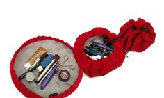 Mini Travel Tray Cosmetic Bag Nail Polish Case by SwingCoat, $14.99 Nail Polish Case, Travel Tray, Cinch Bag, String Bag, Travel Essentials, Get The Look, Things To Buy, Cosmetic Bag, Cosplay Costumes