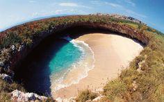 Playa del Amor: conheça a incrível praia que fica escondida em um buraco, Mexico