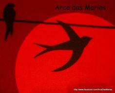 Andorinhas ao pôr-do-sol (detalhe do quadro)
