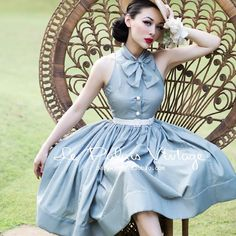 Le Palais vintage elegant limited edition retro self-cultivation Pearl button bow pettiskirt dress