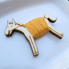 embroidery floss- how adorable!