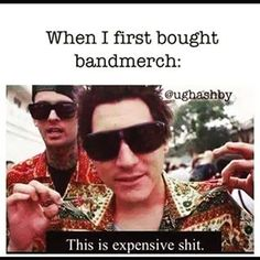 Spending way too much money on band merchandise. | 23 Pictures That Are Way, Way Too Real For Former Emo Kids