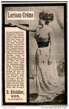 Original-Werbung/ Anzeige 1901 - LORISON CRÊME / ALTSTÄDTER - WIEN - SEILERGASSE 5 - ca. 75 x 120 mm