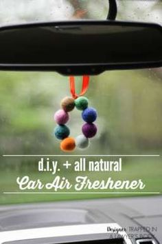 All natural DIY Car Air Freshener - Car Fresheners - Ideas of Car Fresheners - This is BRILLIANT! Make your own DIY car air freshener that is all natural! Full tutorial by Designer Trapped in a Lawyer's Body! Doterra, Homemade Gifts, Diy Gifts, Homemade Beauty, Craft Projects, Projects To Try, Pot Pourri, Natural Air Freshener, Make Your Own