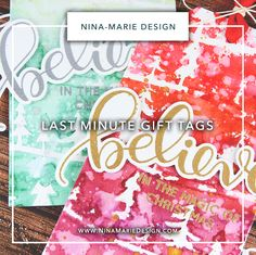 Studio Monday with Nina-Marie: Last Minute Gift Tags (That Still Look Gorgeous!)