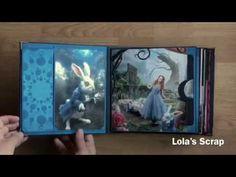 Album Alice In Wonderland 2 - Tim Burton DIY Scrapbooking - YouTube