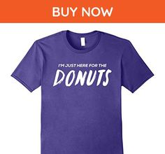 Mens I'm just here for the donuts funny fair food t shirt Large Purple - Food and drink shirts (*Amazon Partner-Link)