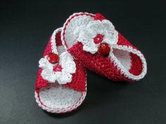 Crochet Baby sandals Summer sandals Custom baby ♡ by NikitasStore