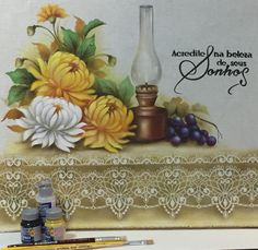 Decoupage, Rose, Painting, Folk Art, Felt Dolls, Calla Lilies, Tejidos, Fruit Painting, Acrylic Paintings